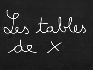 ardoise table de x