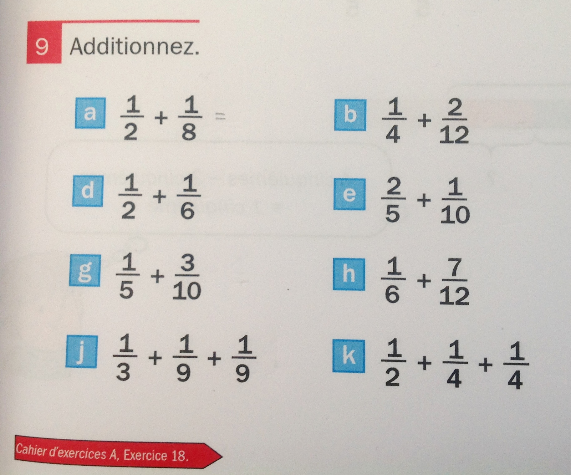 addition de fractions manuel
