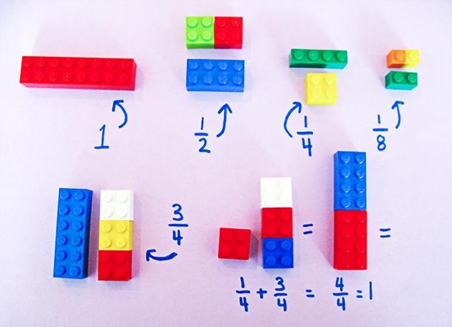 legos add de fractions 2