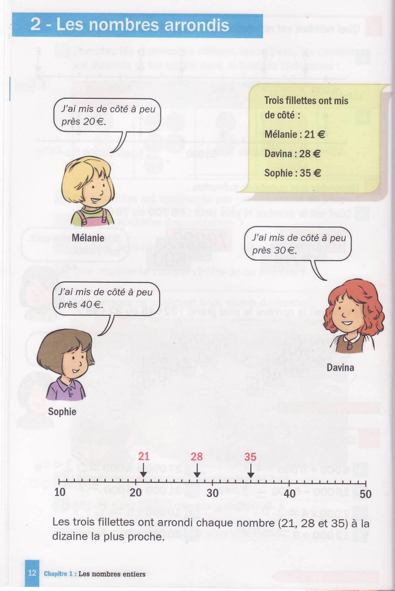 les nombres arrondis manuel cm1