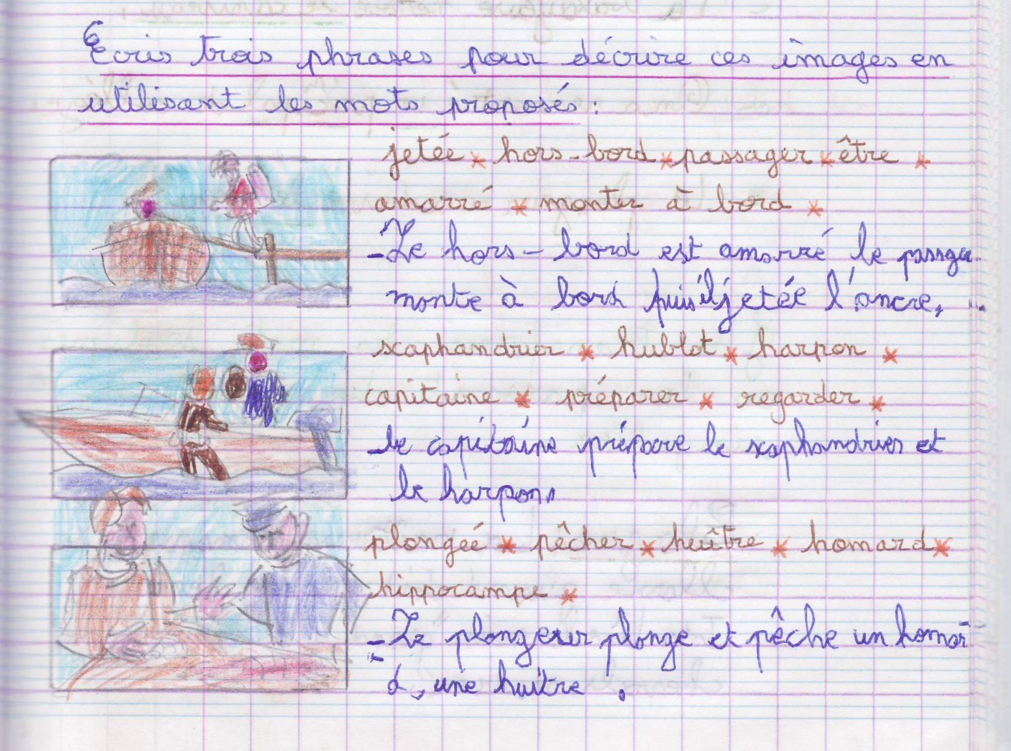 cahier français les noms