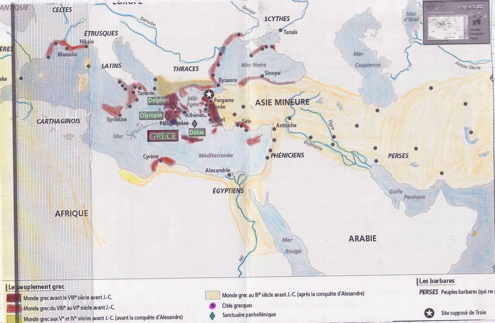cahier grece carte