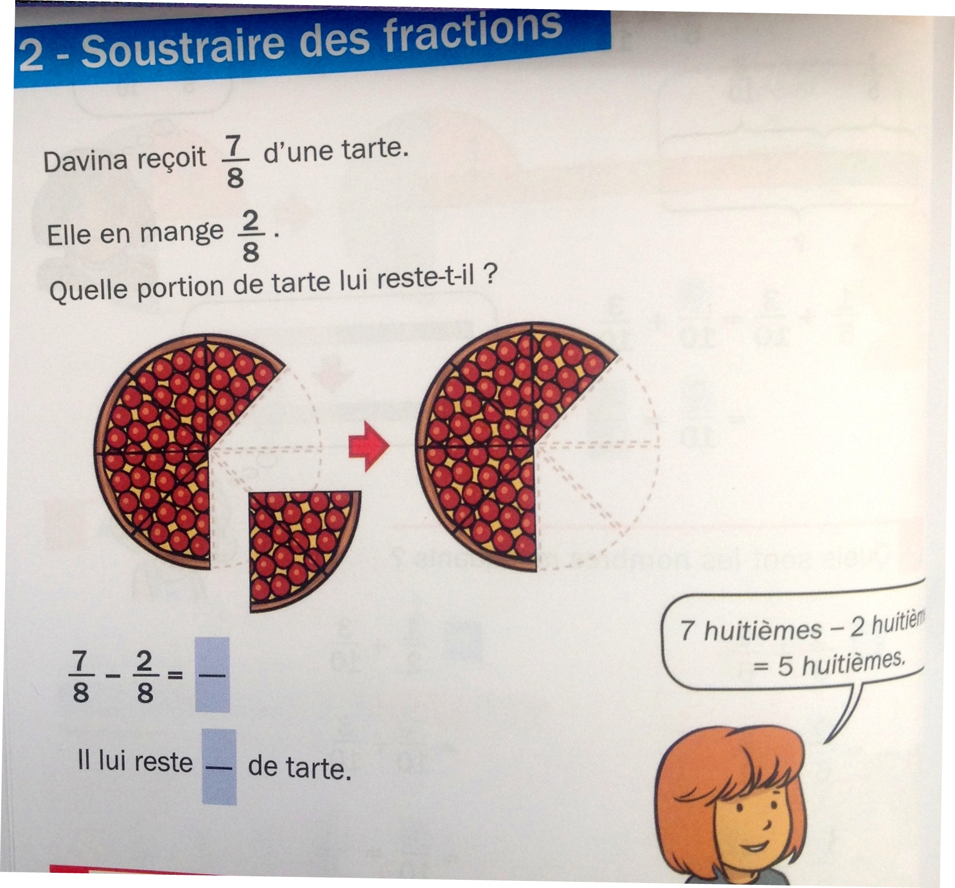 soustraction de fractions LdE