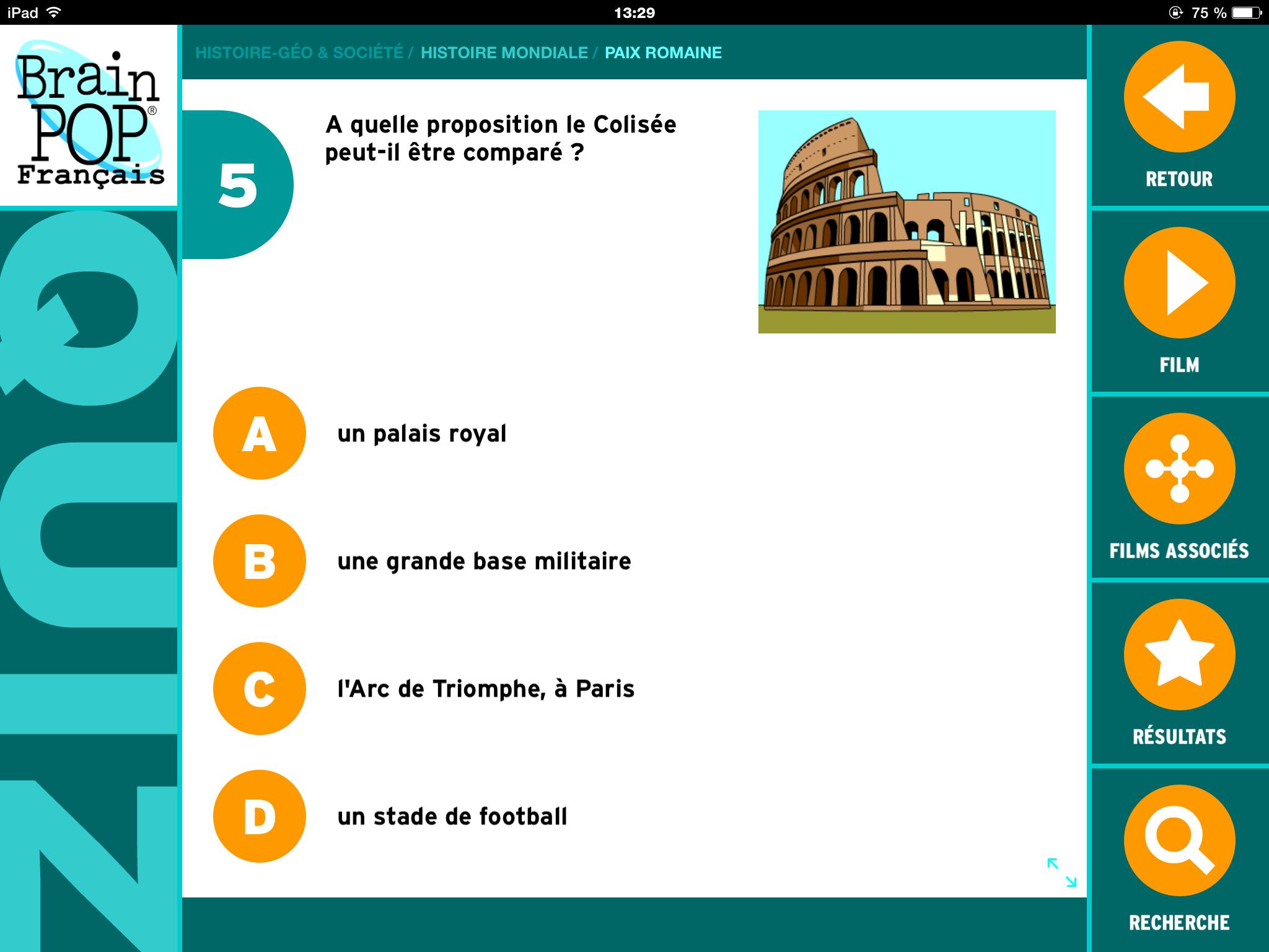 Brainpop la pax romana quizz2