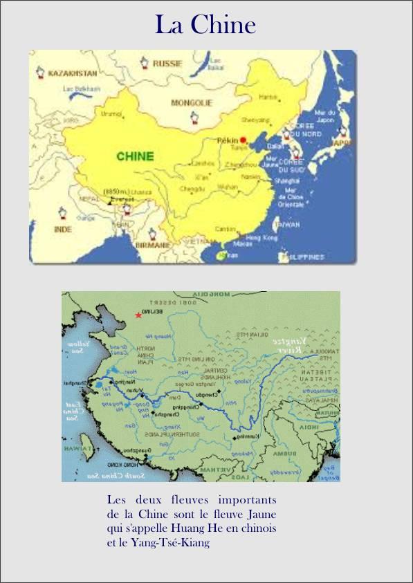 cartes de la Chine