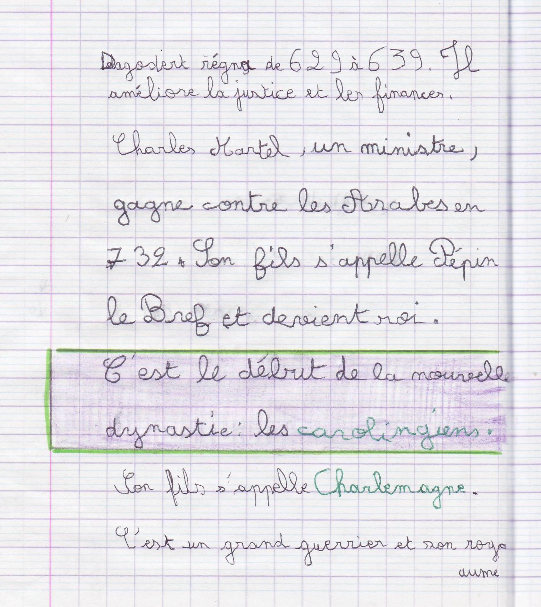carolingien 1 cahier