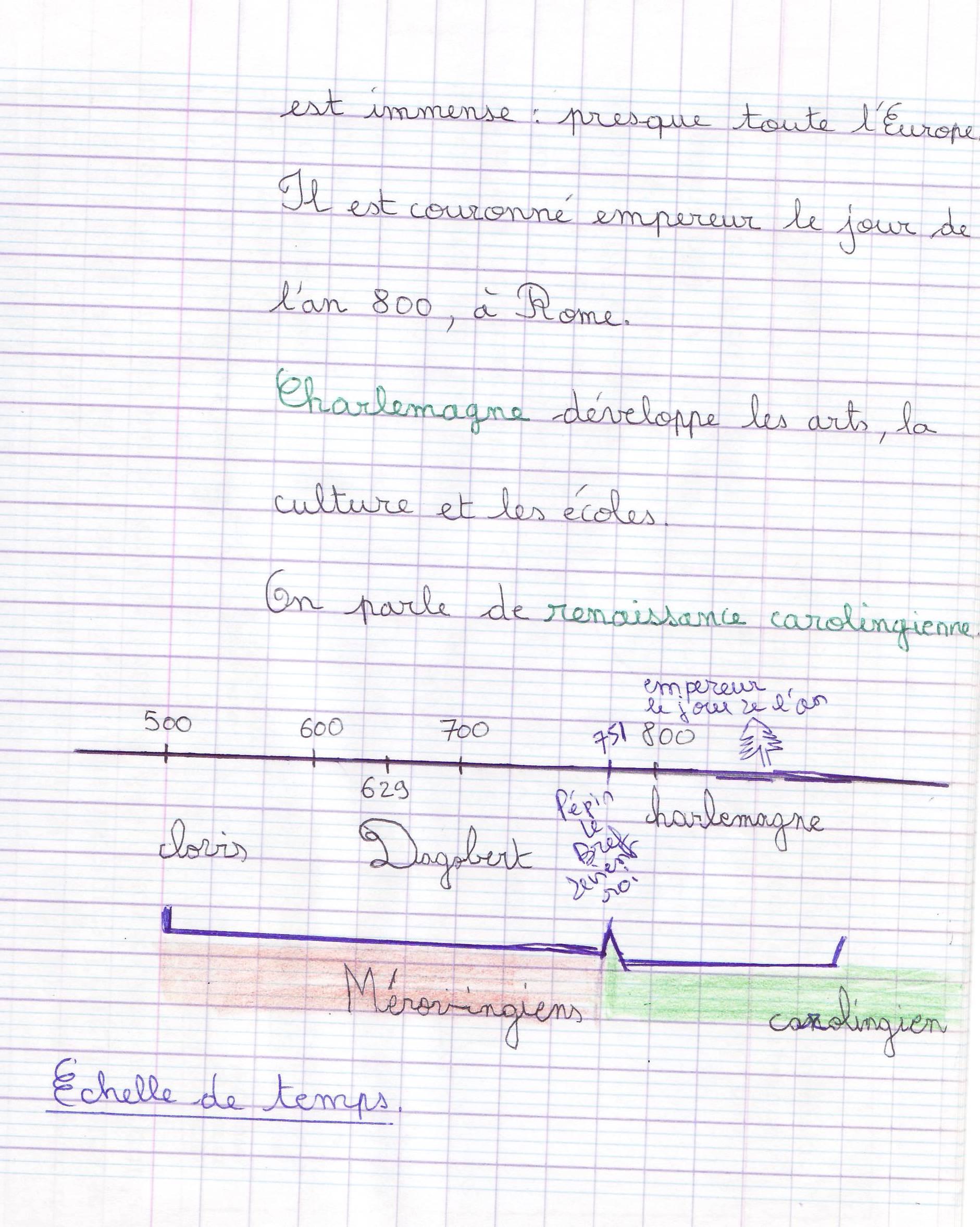 carolingien 2 cahier