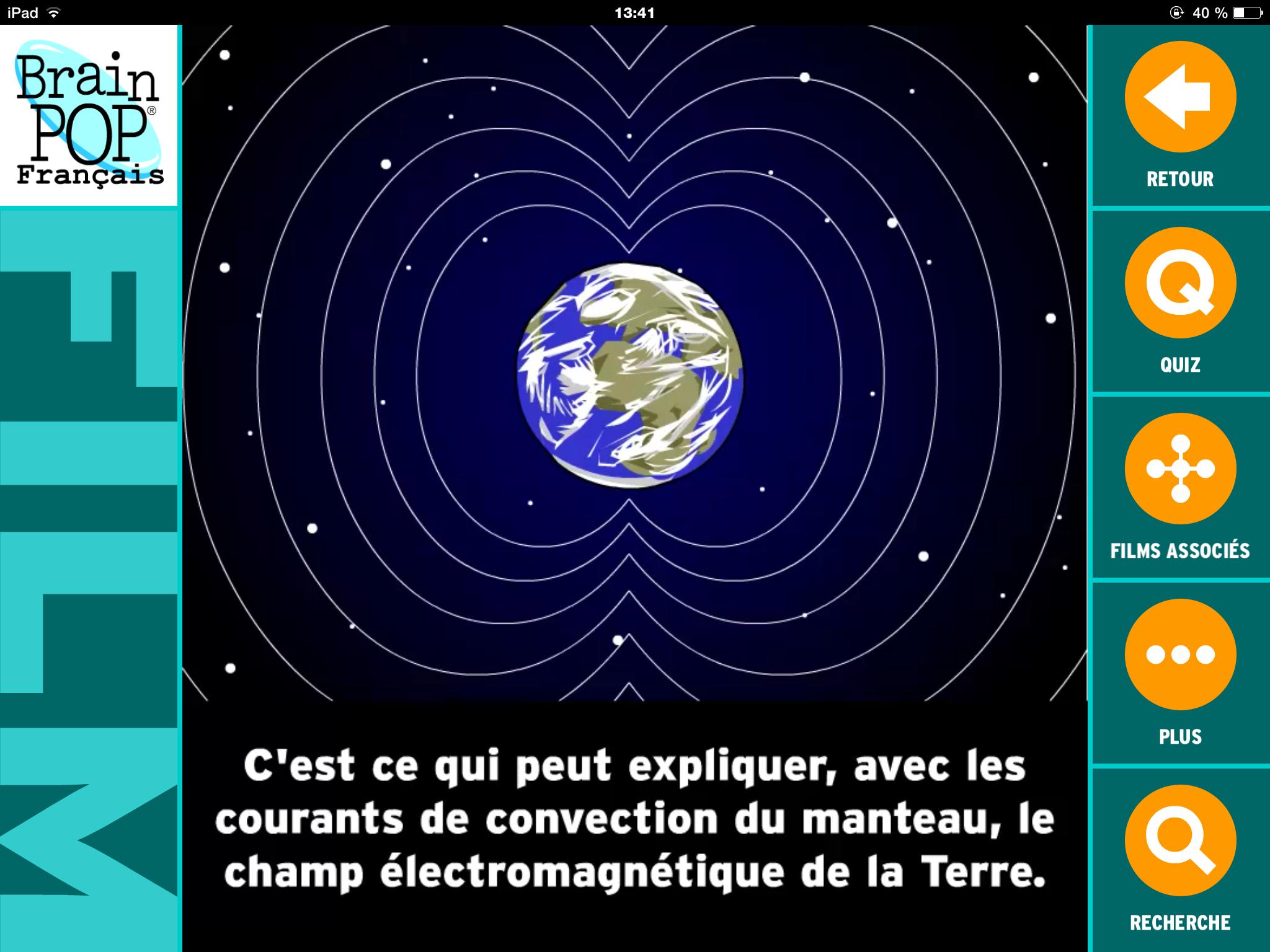 brainpop structure interne de la terre 6